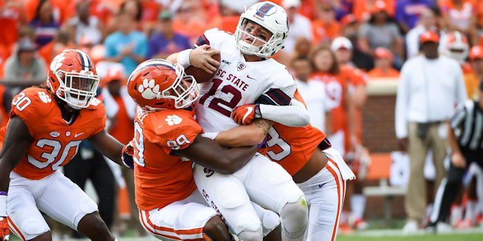 Fifty-nine points in Clemson's largest margin of victory since defeating SC State 73-7 in 2014.