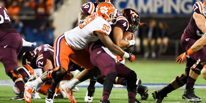 Clelin Ferrell with the early sack