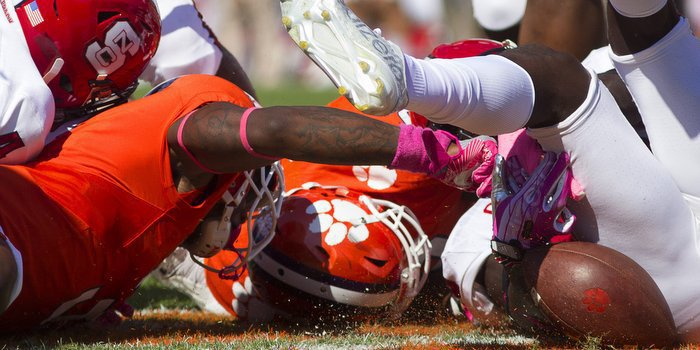 Clemson has had nine turnovers in the last two home games (Photo by Joshua S. Kelly USAT)