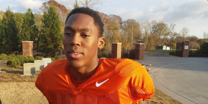 Gallman talks to the media following Tuesday's practice