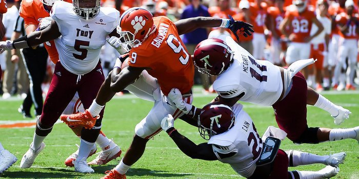 Swinney said the coaches held Wayne Gallman in an effort to see other players
