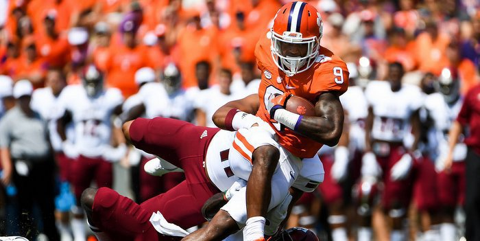 Gallman fights for yards against Troy