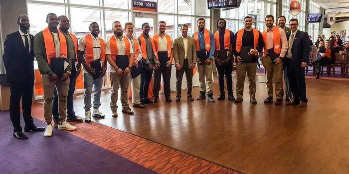 Clemson players that graduated last week (Photo courtesy of Clemson Football Twitter)