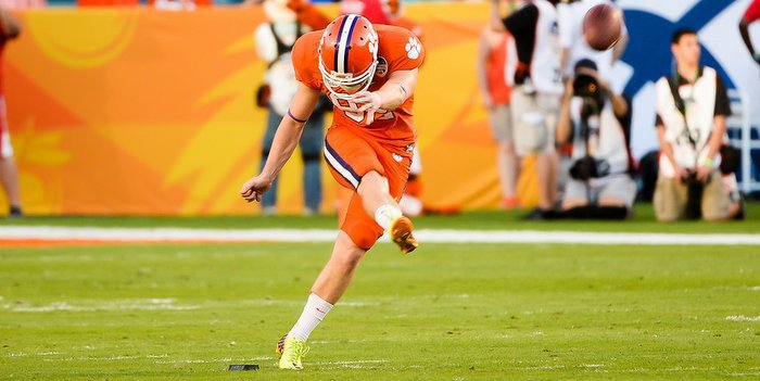 Huegel has worked on his kickoffs