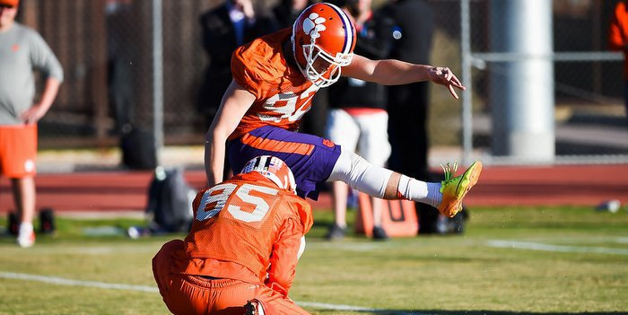 It's obvious that Greg Huegel has worked to improve leg strength