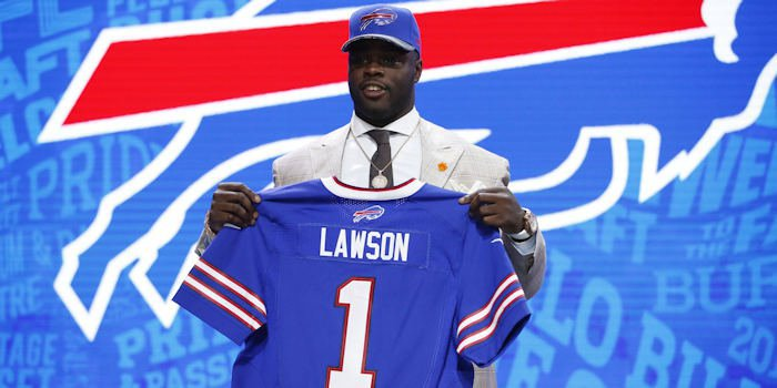 Lawson was the 19th overall pick in the NFL Draft (Photo by Kamil Krzaczynski, USAT)