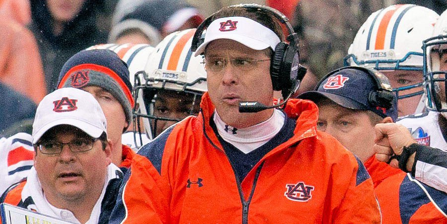 Gus Malzahn and the Auburn Tigers host Clemson Saturday night. (Marvin Gentry/USAT)