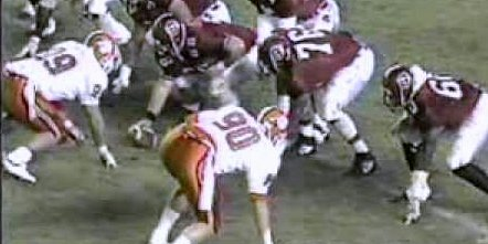 Clemson lines up against South Carolina in 1989