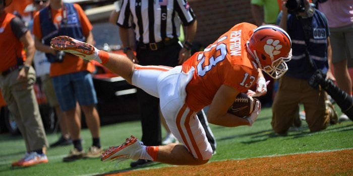 Renfrow injured himself on this catch against Troy