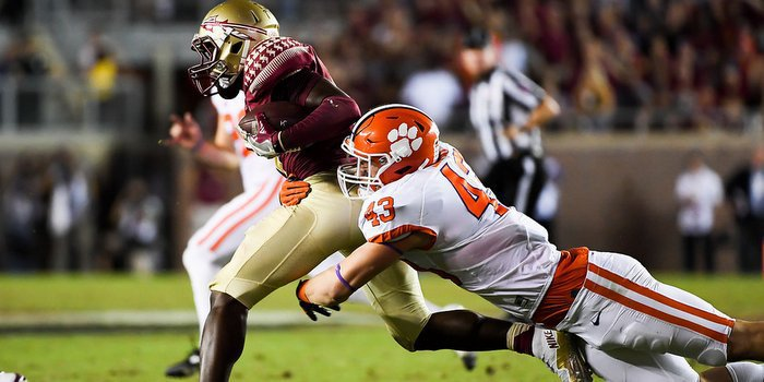 Smith makes a tackle against FSU last Saturday