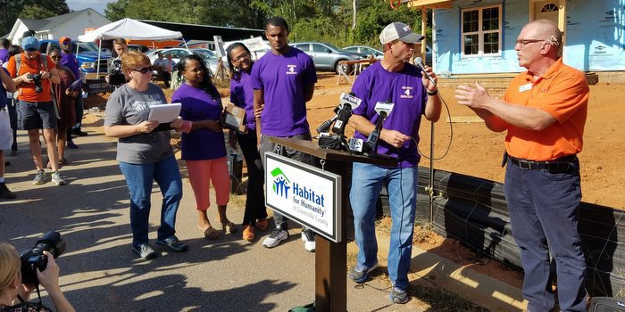 Dabo Swinney and the Clemson football team completed their fall community service project Tuesday