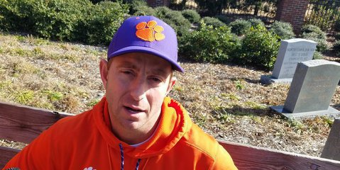 Swinney talks to TigerNet Wednesday afternoon