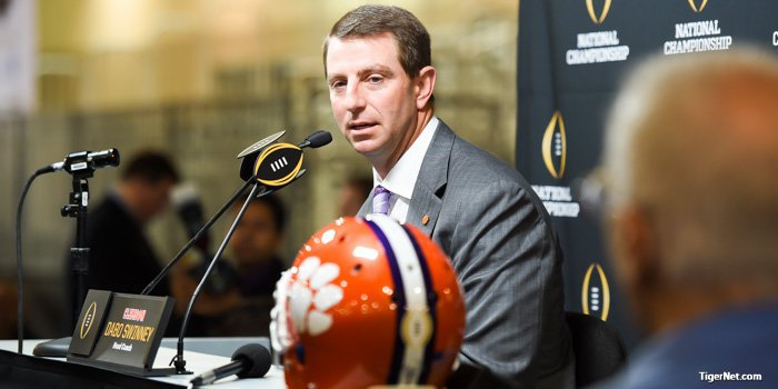 Swinney's new contract places him second in the ACC