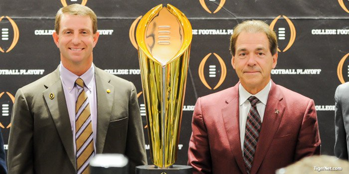 Nick Saban (right) saw first-hand what Watson can do