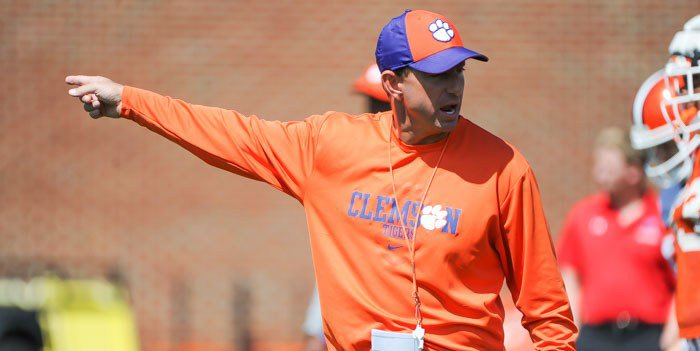 Swinney was pleased with Wednesday's scrimmage