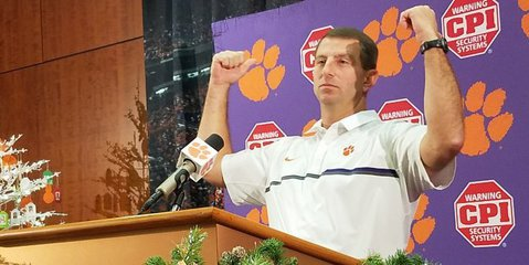 Swinney said he hopes Clemson fans show up strong in Orlando