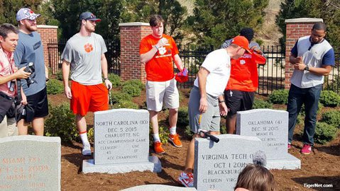 The Tigers added two new tombstones last season