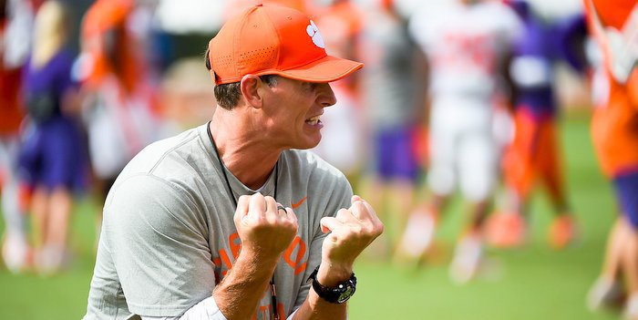 Brent Venables wasn't happy with play of his cornerbacks during Saturday's scrimmage