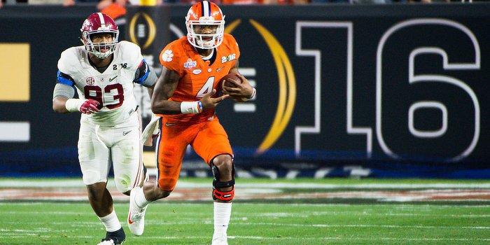 Deshaun Watson surprised Alabama's defense last season