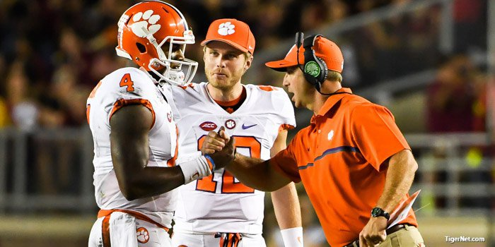 Dabo's plans on how to handle loss to Pitt?