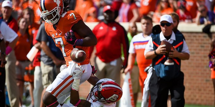 Mike Williams had one of Clemson's four turnovers Saturday