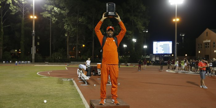 Hester at the 2015 ACC Outdoor Track and Field Championship (Photo by Mark Wallheiser, theACC.com)