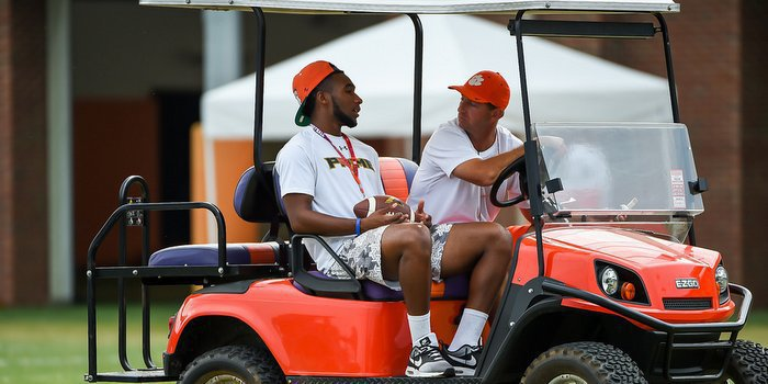 Avery spent time with head coach Dabo Swinney