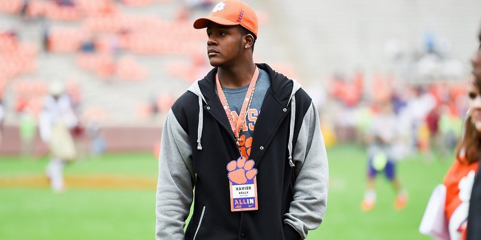 Kelly says he can't wait to be a Clemson football player - and student
