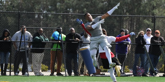 Rodgers shows off at Nike's The Opening last week