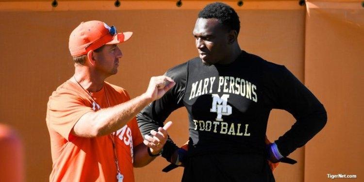 Herring talks with Clemson head coach Dabo Swinney in June