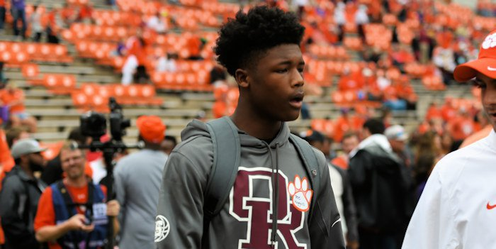 Higgins at a Clemson game last fall