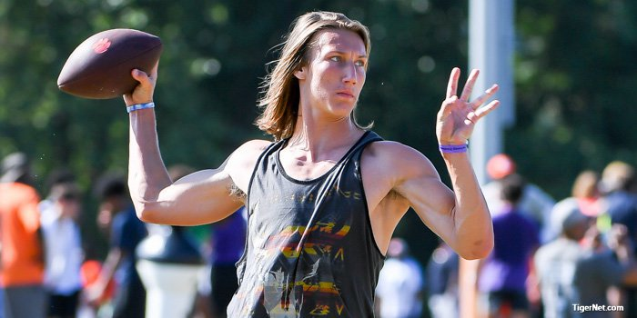 5-star QB Trevor Lawrence was at Thursday's session.