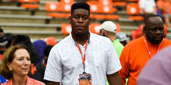 Trey Smith on a visit to Clemson football game last year.