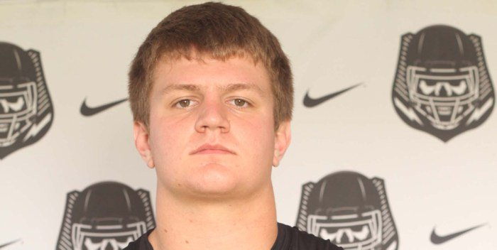 Blake Vinson played all five offensive line position during Saturday's The Opening combine