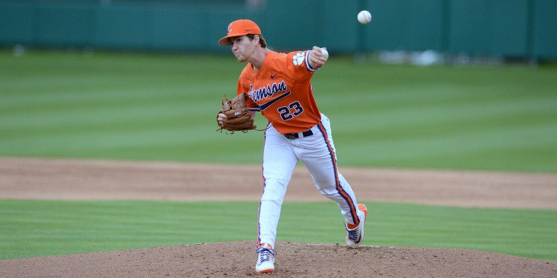 Barnes pitched six strong innings and picked up the win (Photo by David Grooms)