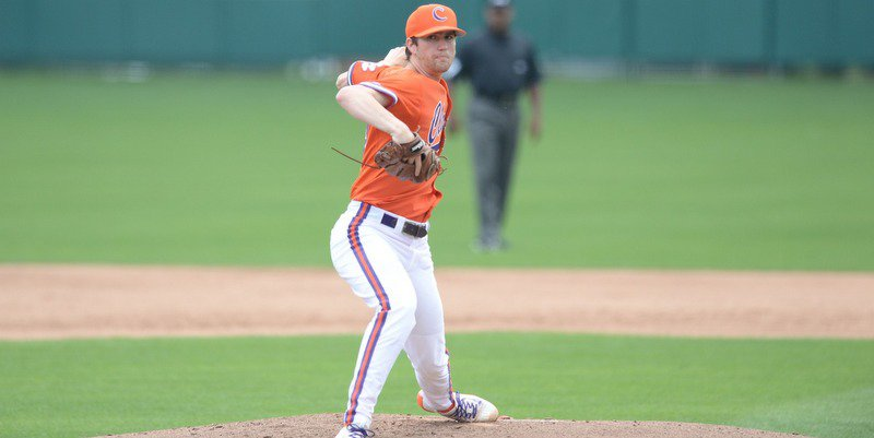 Charlie Barnes pitched six innings and took the loss (Photo by David Grooms)