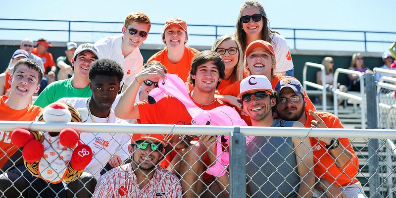 Marianos (in Clemson baseball hat on the right) says Damien has plenty of brothers and sisters for sale