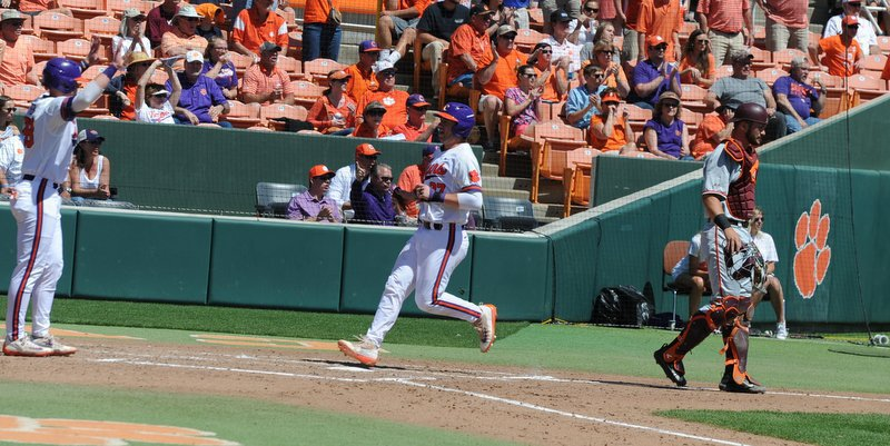 Clemson improved to 28-5 overall and swept its third ACC series
