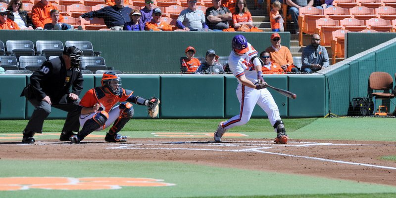 Chris Williams delivers and RBI double in the first