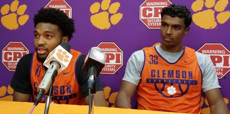 DeVoe (L) and Grantham (R) are two of Clemson's seniors