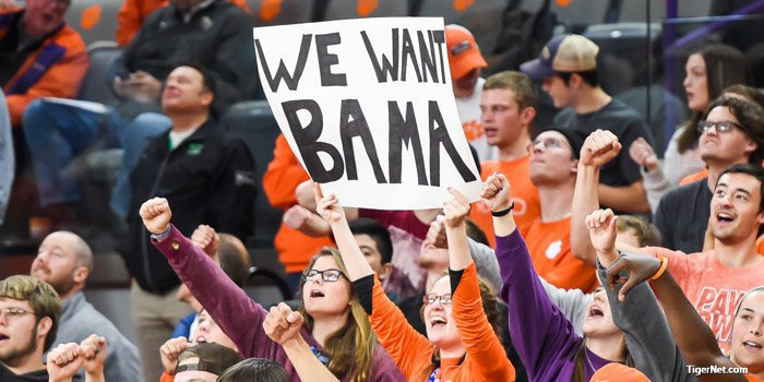 Clemson fans won't get the chance to play Alabama