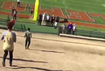 WATCH: Clemson commit falls while going down the Hill