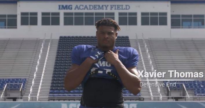WATCH: Clemson commit Xavier Thomas, IMG featured in webisode
