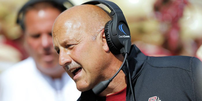 Boston College head coach Steve Addazio says Dabo Siwnney has built one of the nation's best programs