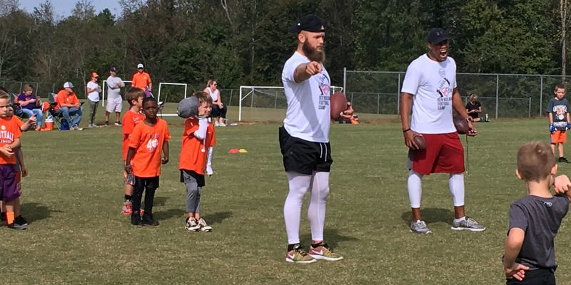 Boulware coaches during his camp Saturday (Photo by Spencer Kelley)