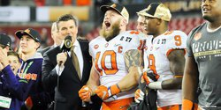 Boulware shows off his National Championship display
