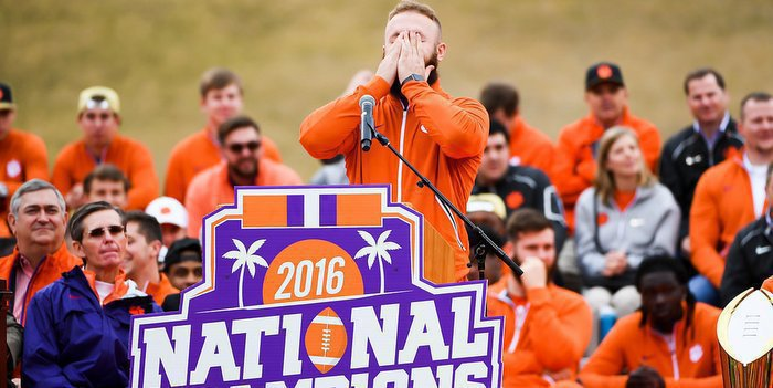 Boulware breaks down during his speech