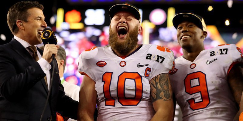 Boulware lets his emotions show Monday night.  <span style=