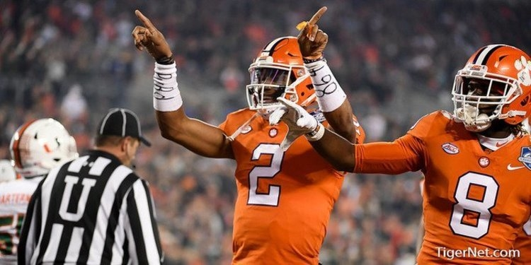 LOOK: Clemson players support Kelly Bryant by attending Missouri's spring game