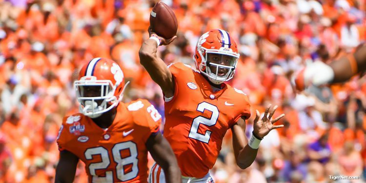 The Tigers rolled up 667 yards of offense while playing over 90 players.